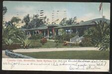 Postcard SANTA BARBARA California/CA  Montecello Golf Course Country Club 1907