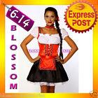 2093 Dirndl Oktoberfest Ladies German Beer Maid Outfit Fancy Dress Party Costume
