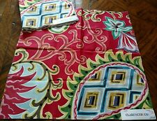 (2) CLARENCE HOUSE Fabric Remnants - PRIMAVERA 02 Linen/Cotton 17x17  TALY $434