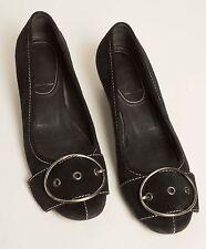 Ladies Miu Miu Vero Cuoio Italian Designer black suede shoes Size 36 ½