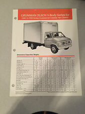 Vintage Grumman Olson V-Body Series for GMC G-3500 Series Commercial Van Chassis