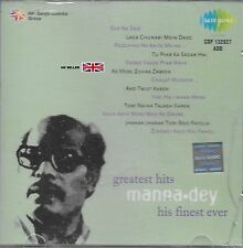 MANNA DEY - GREATEST HITS - HIS FINEST EVER - SOUND TRACK CD - FREE UK POST