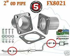 "2"" OD Universal QuickFix Exhaust Rectangle Flange Repair Pipe Kit FX8021"