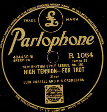 LUIS RUSSELL & ORCH. High tension / LOUIS ARMSTTRONG Knockin' a Jug 78rpm  X2797
