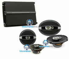 "3pkg FOCAL R690C 6X9"" R165C 6.5"" COAXIAL SPEAKERS + R4280 4-CHANNEL AMPLIFIER"