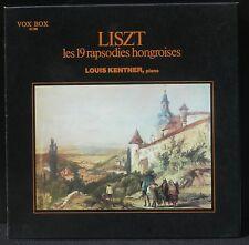 Liszt Louis Kentner 19 rapsodies hongroises  Vox Box France 3 x LP M, BX NM -