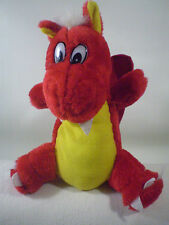 """Rinco Dragon Plush Red Yellow Butterfly Stuffed Animal Doll Toy Fangs Claws 9"""""""