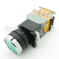 Green Push Button Switch Pushbutton Latching 22mm With 220V LED Indicator Light