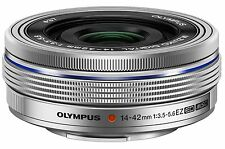 Olympus 14-42mm f3.5-5.6 EZ  Lens Micro 4/3 Four Thirds (Silver) - New USA