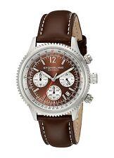 Stuhrling Original Men's 669.03 Monaco Quartz Chronograph Brown Leather Watch
