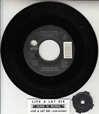 "GUNS N' ROSES Live And Let Die 7"" 45 rpm 7"" NEW record + juke box title strip"