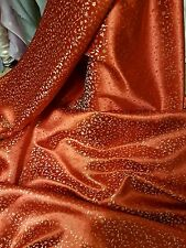 """1M RED /gold COLOUR small floral Chinese Brocade Fabric Shiny Silky,  45""""wide"""