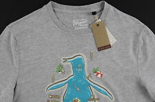 Men's PENGUIN Gray Logo Summer Pool Tee Shirt T-Shirt XXL 2XL NWT NEW Amazing!
