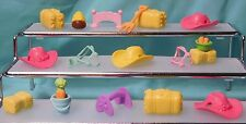 Littlest Pet Shop Big Horse/Pony/Farm Accessories 19pc Lot: Hay Saddle Hats etc.