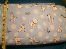 BTY B14 Baby Boy Dog House Bear on Blue  Flannel Material New