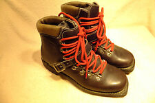 Vtg FABIANO Extra Cross Country Nordic75mm 3 Pin Ski Boots US 8.5N.Made in Italy