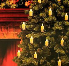 Set of 10 Luminara LED Christmas Tree Candles Strand Flameless Bronze White