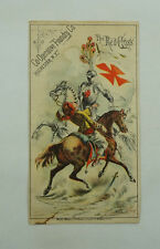 Co-Operative Foundry Co. The Red Cross Vintage Trade Card 6642