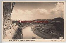(88624) Foto AK Rahm Hanke, Sächsische Schweiz, m. Elbtal u. Lilienstein 1935