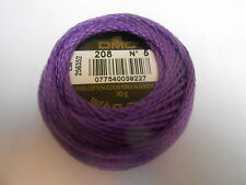 "DMC Perle 5 Cotton Ball Colour Purple ""208"""