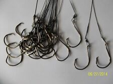 """Stainless Steel 40 LB Leader 10"""" with Australian Octopus Circle hook 8/0 PCS 20"""