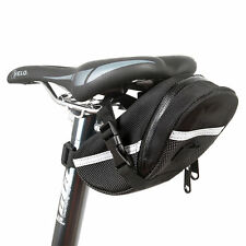 Black Rear Storage Seat Waterproof Bag Pouch Bike Bicycle Saddle New Tail CY