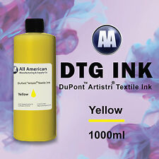 DTG Ink Yellow 1000ml Dupont Artistri Ink, Best Direct to Garment Printer Ink