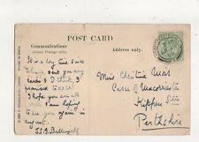 Miss Christina Moir Carse Of Macorrieston Kippen Station Perthshire 1908 777a