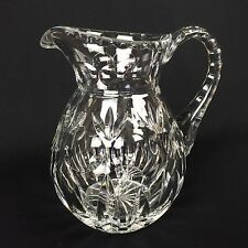 Gorham Bamberg Heavy Cut Crystal Water Pitcher Dot & Fan 56 oz Signed