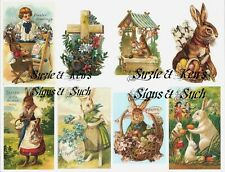 Easter Stickers Vintage Victorian Postcard Reproducti​ons 16 Total