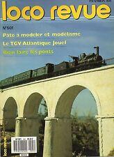 LOCO REVUE N°501 fevrier 1988 tgv atlantique jouef
