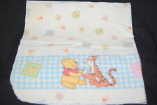 Vintage Winnie Pooh Tigger Yellow Blue Check Bees Infant Baby Receiving Blanket