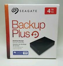 Seagate Backup Plus 4TB Desktop External Hard Drive USB3.0 WINDOWS & MAC OS