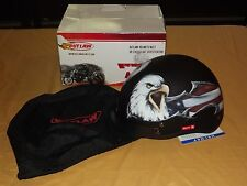 OUTLAW MOTORCYCLE HELMET DOT CERT FLAT BLACK EAGLE XL MODEL XU177  NEW IN BOX