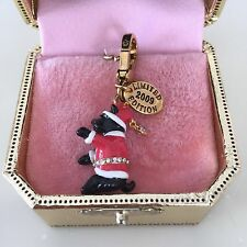 JUICY COUTURE SANTA YORKIE CHARM FROM 2009.  IN TAGGED GOLD LIMITED BOX!! NEW!