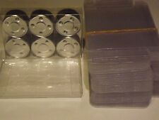 100 Clear TeaLight (candles) Boxes Clear plastic Packaging/Presentation boxes