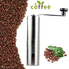 Hot Portable Stainless Steel Manual Coffee Grinder Burr Mill for Kitchen Travel