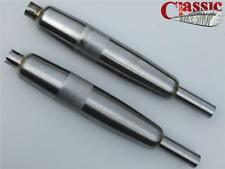 BSA A65 Firebird Bare Metal Silencers