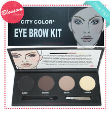 City Color EYE BROW KIT 3x Powder, Wax,Tweezers, Shaper Brush - Eyebrow Set