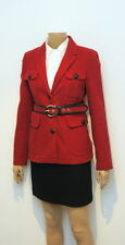 THOMAS BURBERRY VINTAGE TRENCH-JACKE LUXUS PUR !  GR-S KURZ  WEINROT