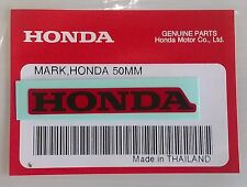HONDA MARK 50mm RED / BLACK DECAL STICKER LOGO BADGE 100% GENUINE ORIGINAL