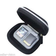 Black Hard Carry Case Memory Card Protective Travel Holder Bag SD Micro CF Cover
