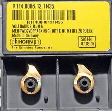 2 Stück Wendeplatten Wendeschneidplatten Mini Horn R114.0006.12 TN35