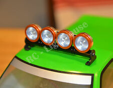 RC LED Light bar with Clear  Lenses - 5 flashing modes - Aluminum - FZ OR W
