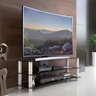 TV Stand Entertainment Center Media Console Storage Glass Cabinet Home Furniture