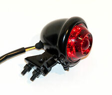 DIMPLED OLD STYLE BLACK MINI LED RED/RED TAIL LIGHT 12V CAFE RACER BOBBER 1-EACH