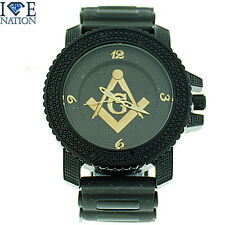 Mason/Masonic Watch by Ice Nation/Captain Bling With Bullet Band #2599-Brand New