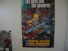 1995 DARKSEID VS GALACTUS-THE HUNGER  PROMOTIONAL POSTER VF/NM