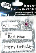 Joyeux anniversaire avec amour best mum diy carte de vœux toppers