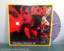 AC/DC 'WEMBLEY WARRIORS' LIVE IN UK '88 MULTI-COLOR SPLATTER WAX RARE NM/NM ACDC